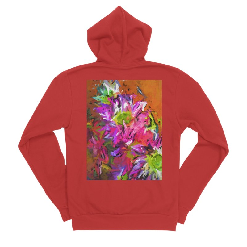 Daisy Rhapsody in Purple and Pink Women's Sponge Fleece Zip-Up Hoody by jackievano's Artist Shop