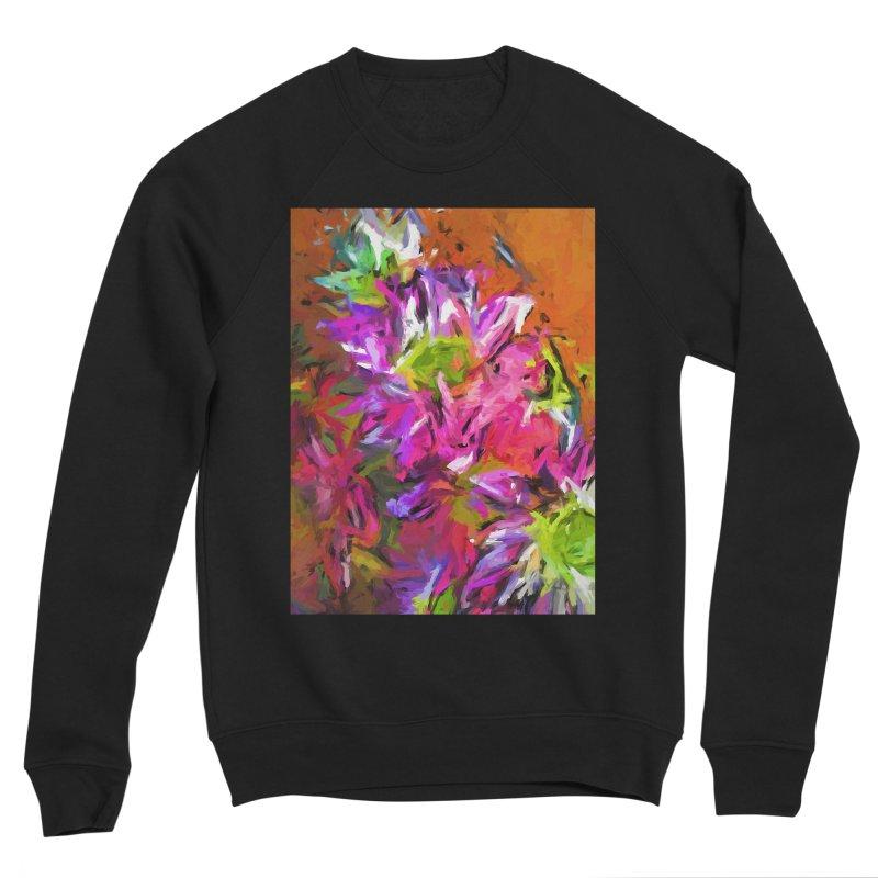 Daisy Rhapsody in Purple and Pink Men's Sponge Fleece Sweatshirt by jackievano's Artist Shop