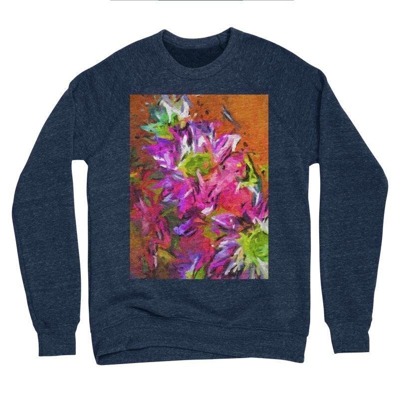 Daisy Rhapsody in Purple and Pink Women's Sponge Fleece Sweatshirt by jackievano's Artist Shop