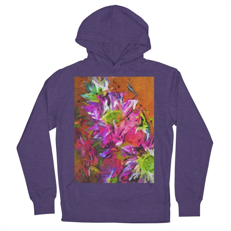 Daisy Rhapsody in Purple and Pink Women's French Terry Pullover Hoody by jackievano's Artist Shop