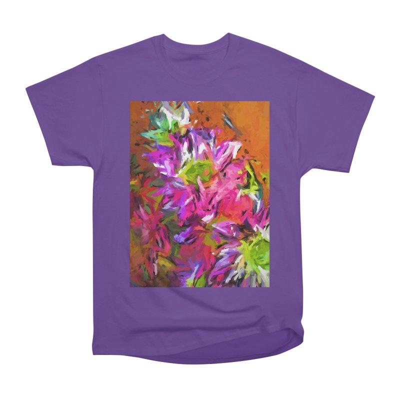 Daisy Rhapsody in Purple and Pink Women's Heavyweight Unisex T-Shirt by jackievano's Artist Shop
