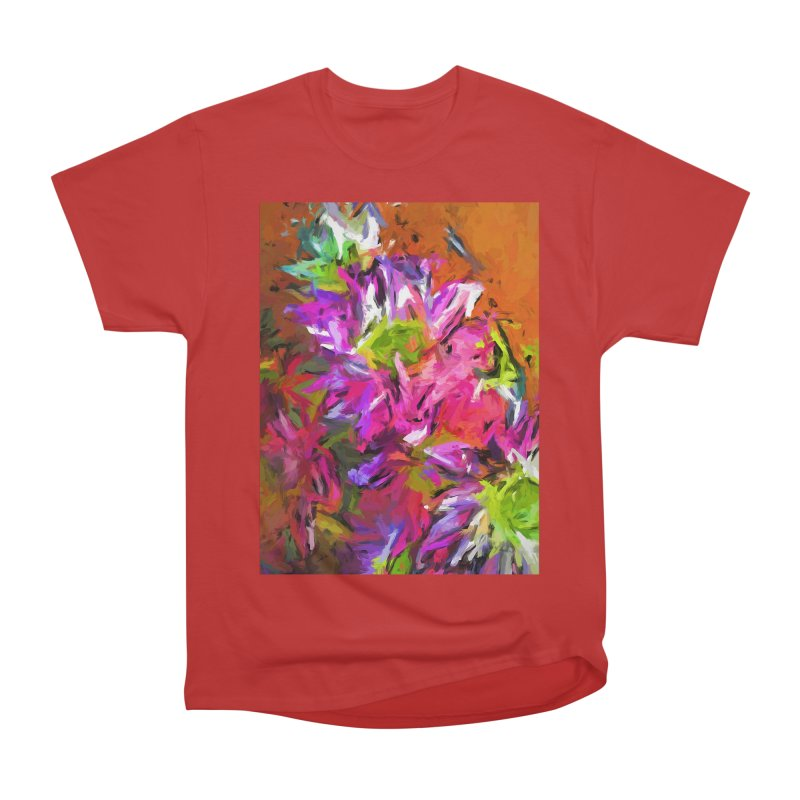 Daisy Rhapsody in Purple and Pink Men's Heavyweight T-Shirt by jackievano's Artist Shop