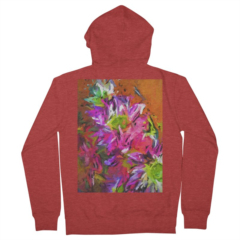 Daisy Rhapsody in Purple and Pink Women's French Terry Zip-Up Hoody by jackievano's Artist Shop