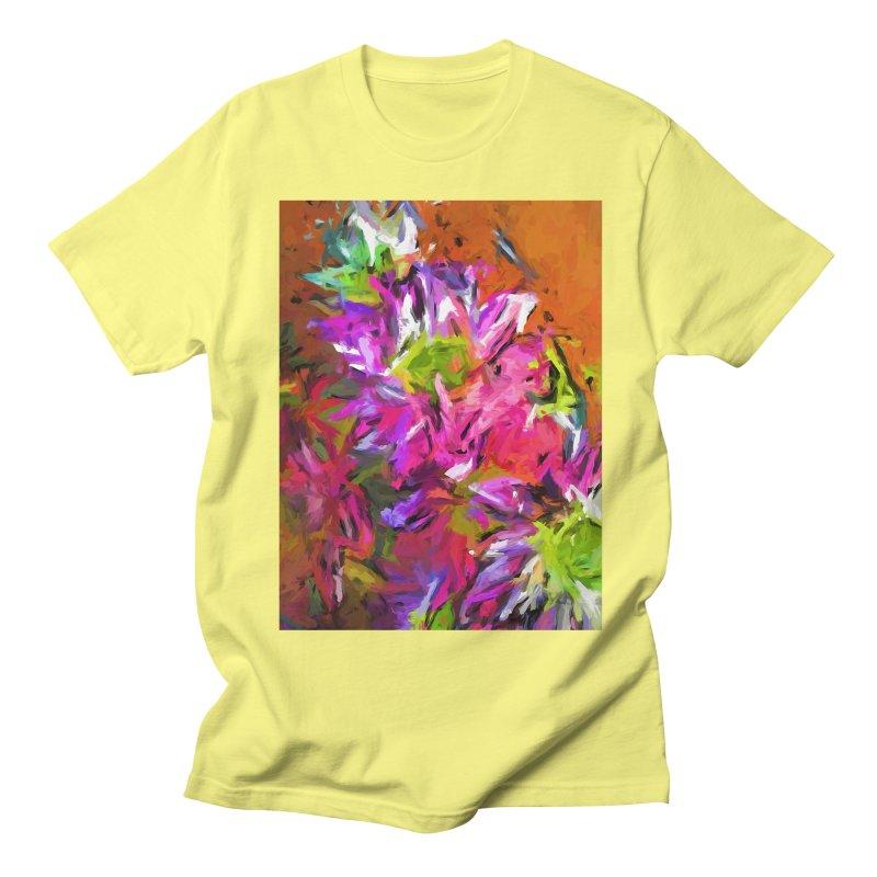 Daisy Rhapsody in Purple and Pink Men's Regular T-Shirt by jackievano's Artist Shop