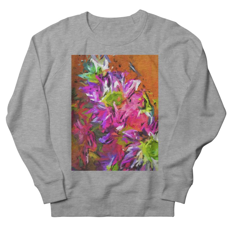 Daisy Rhapsody in Purple and Pink Men's French Terry Sweatshirt by jackievano's Artist Shop