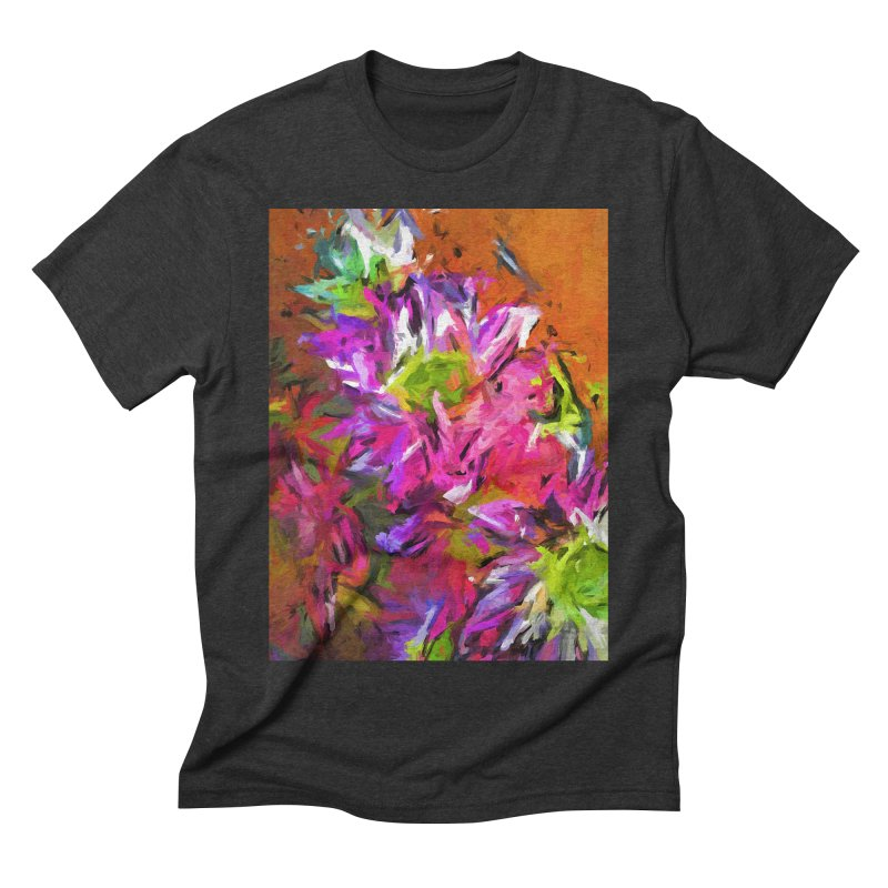 Daisy Rhapsody in Purple and Pink Men's Triblend T-Shirt by jackievano's Artist Shop