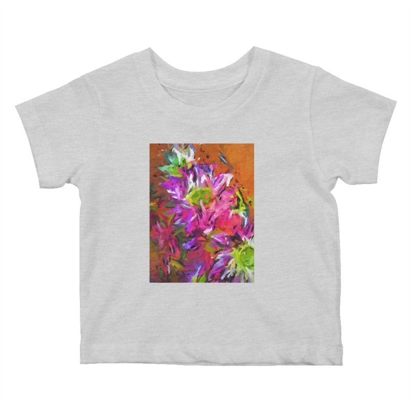 Daisy Rhapsody in Purple and Pink Kids Baby T-Shirt by jackievano's Artist Shop