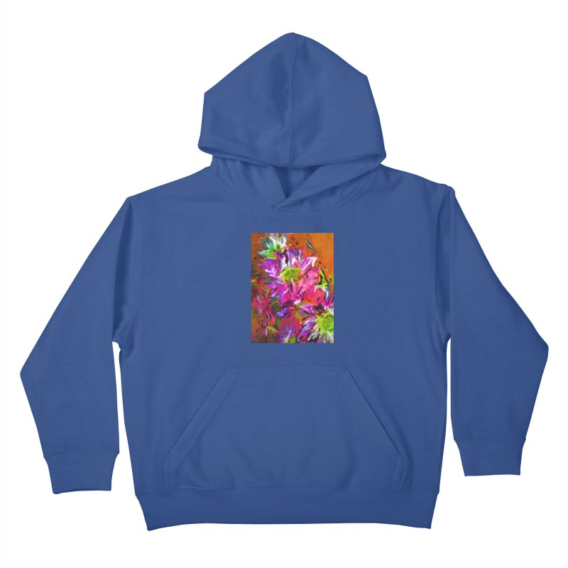 Daisy Rhapsody in Purple and Pink Kids Pullover Hoody by jackievano's Artist Shop