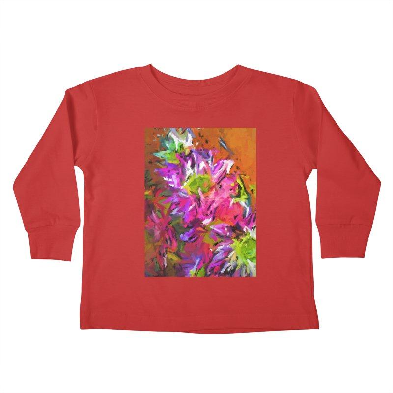 Daisy Rhapsody in Purple and Pink Kids Toddler Longsleeve T-Shirt by jackievano's Artist Shop