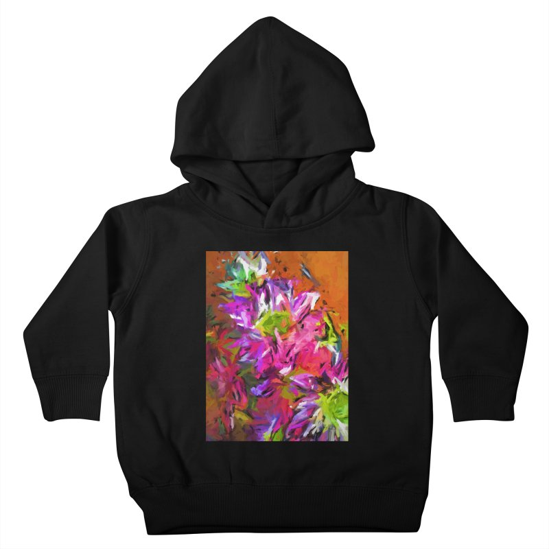 Daisy Rhapsody in Purple and Pink Kids Toddler Pullover Hoody by jackievano's Artist Shop
