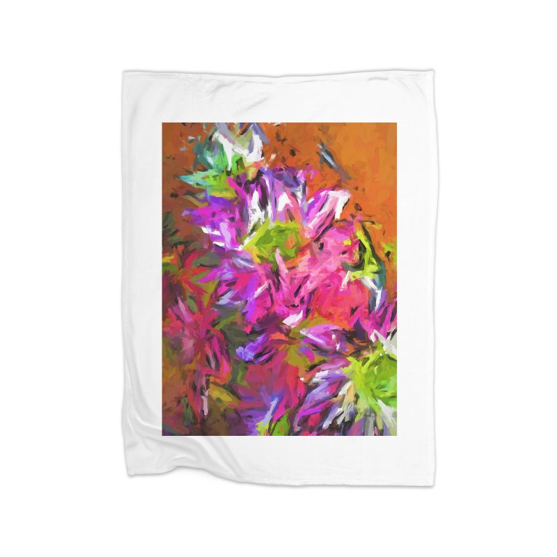 Daisy Rhapsody in Purple and Pink Home Blanket by jackievano's Artist Shop
