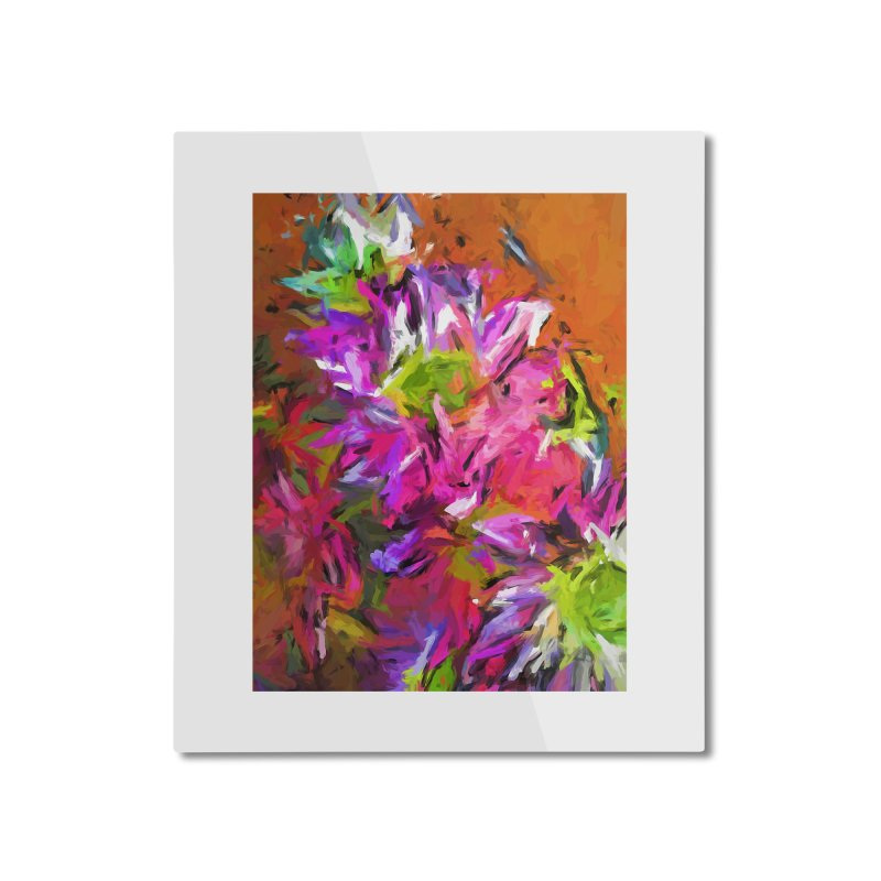 Daisy Rhapsody in Purple and Pink Home Mounted Aluminum Print by jackievano's Artist Shop