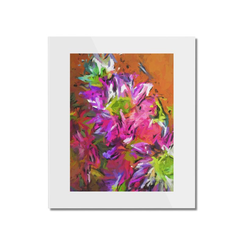 Daisy Rhapsody in Purple and Pink Home Mounted Acrylic Print by jackievano's Artist Shop