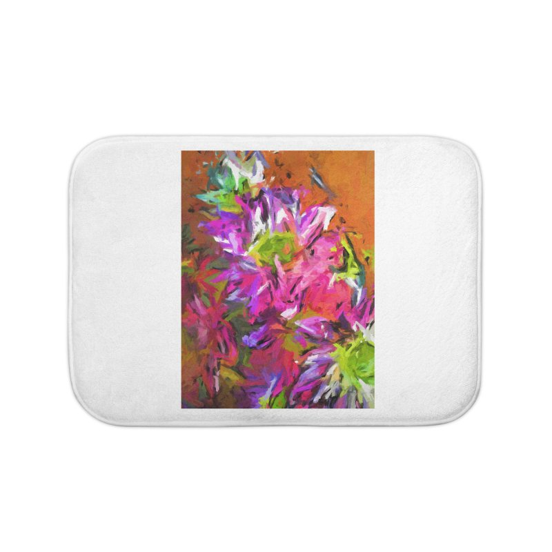 Daisy Rhapsody in Purple and Pink Home Bath Mat by jackievano's Artist Shop