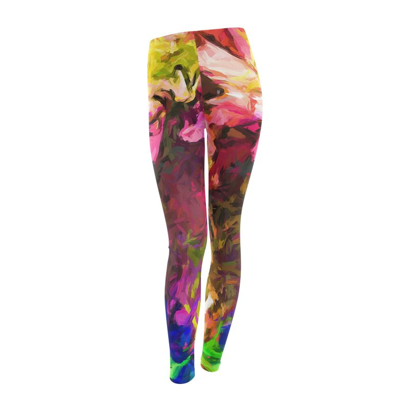 Flower Colour Love 1 Women's Leggings Bottoms by jackievano's Artist Shop