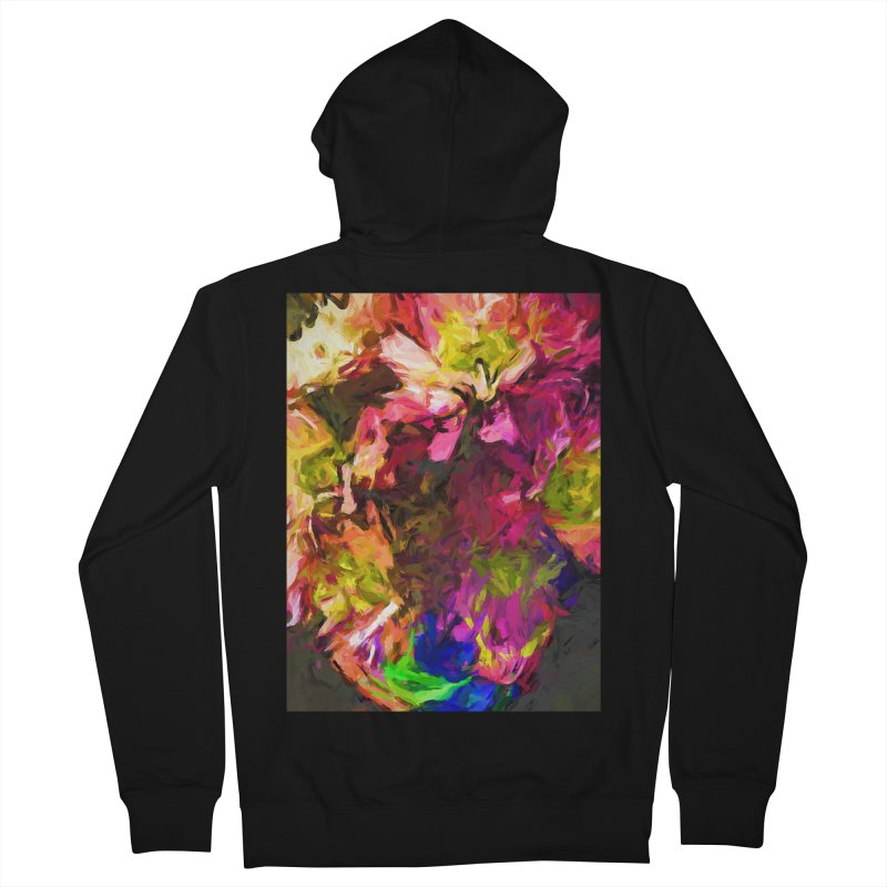 Flower Colour Love 1 Women's French Terry Zip-Up Hoody by jackievano's Artist Shop