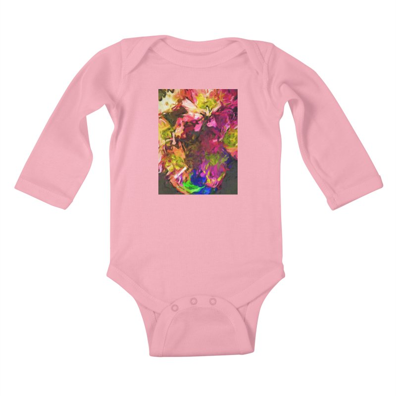 Flower Colour Love 1 Kids Baby Longsleeve Bodysuit by jackievano's Artist Shop