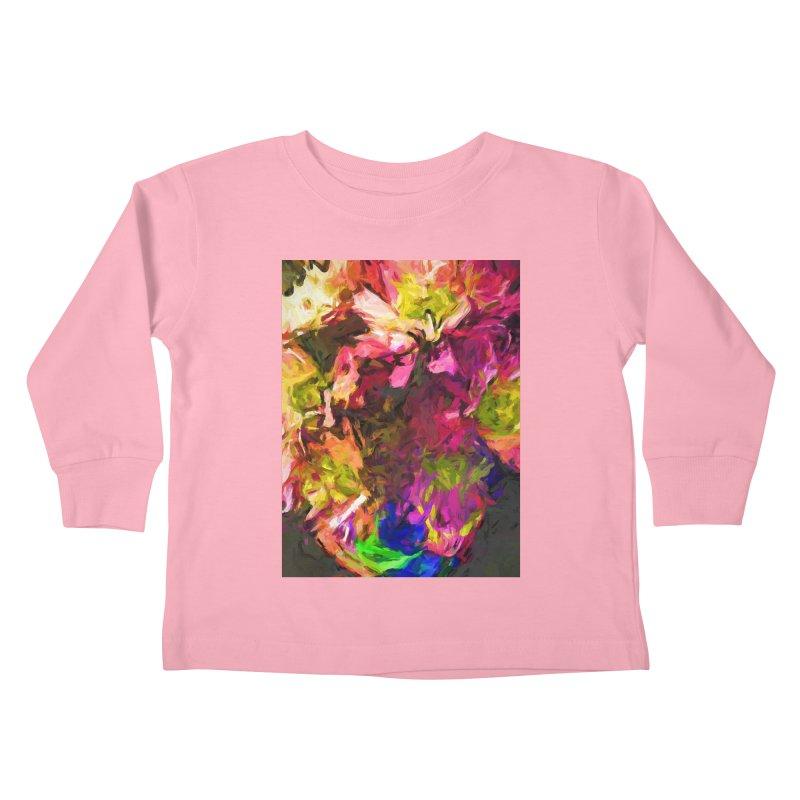 Flower Colour Love 1 Kids Toddler Longsleeve T-Shirt by jackievano's Artist Shop
