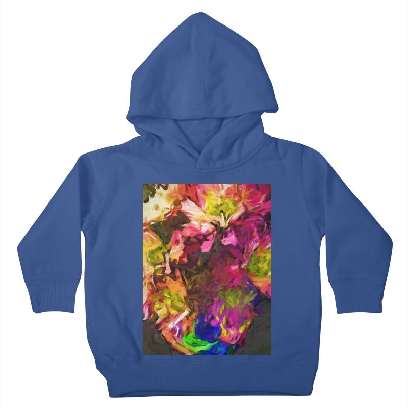 Flower Colour Love 1 Kids Toddler Pullover Hoody by jackievano's Artist Shop