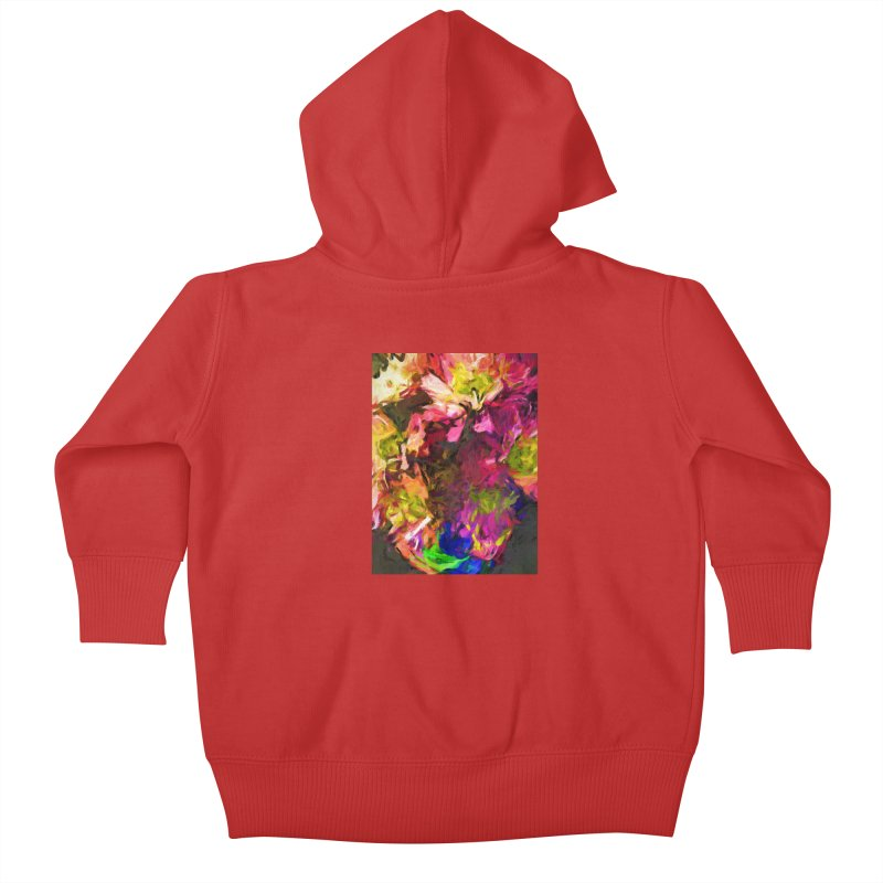 Flower Colour Love 1 Kids Baby Zip-Up Hoody by jackievano's Artist Shop