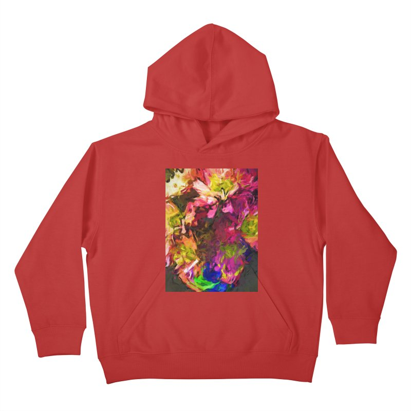 Flower Colour Love 1 Kids Pullover Hoody by jackievano's Artist Shop