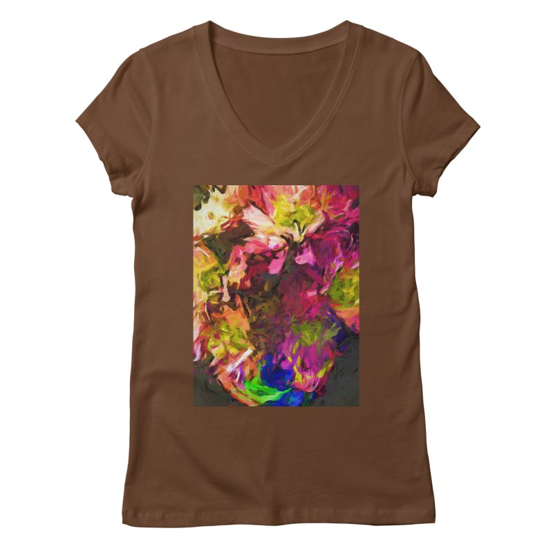Flower Colour Love 1 Women's Regular V-Neck by jackievano's Artist Shop
