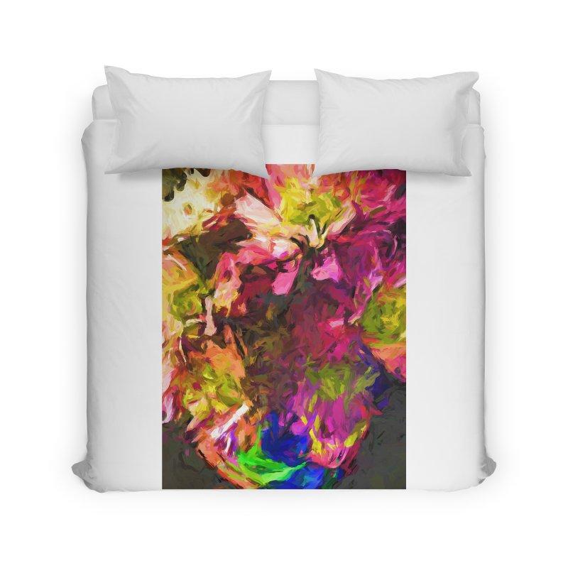 Flower Colour Love 1 Home Duvet by jackievano's Artist Shop