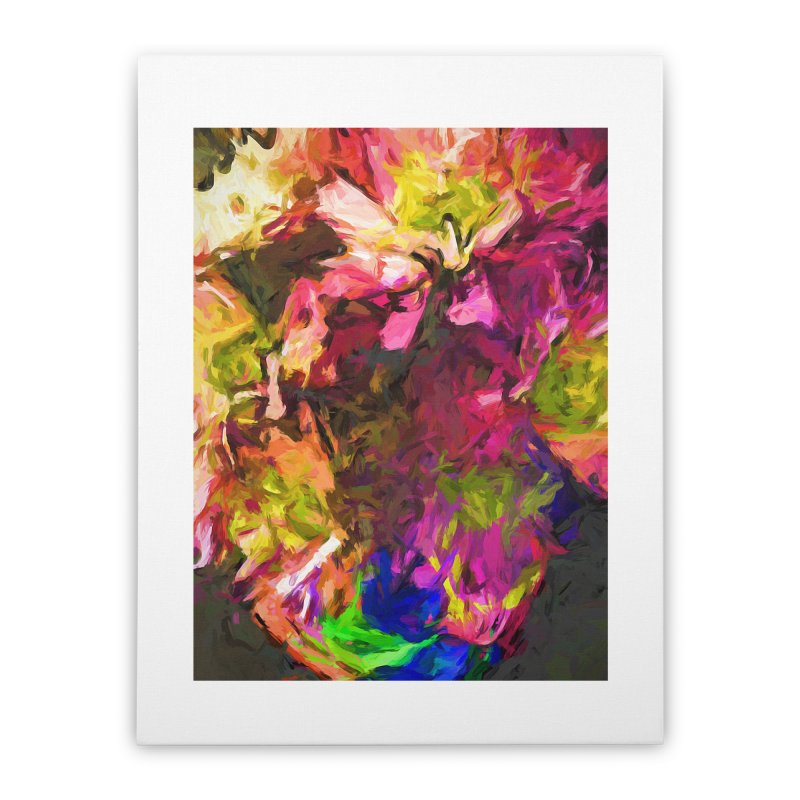 Flower Colour Love 1 Home Stretched Canvas by jackievano's Artist Shop