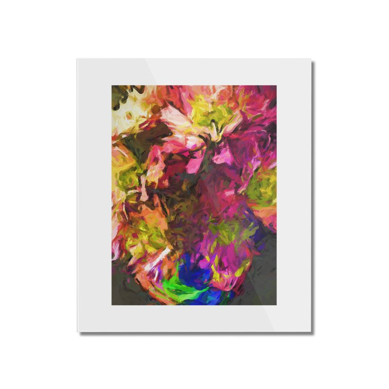 Flower Colour Love 1 Home Mounted Acrylic Print by jackievano's Artist Shop