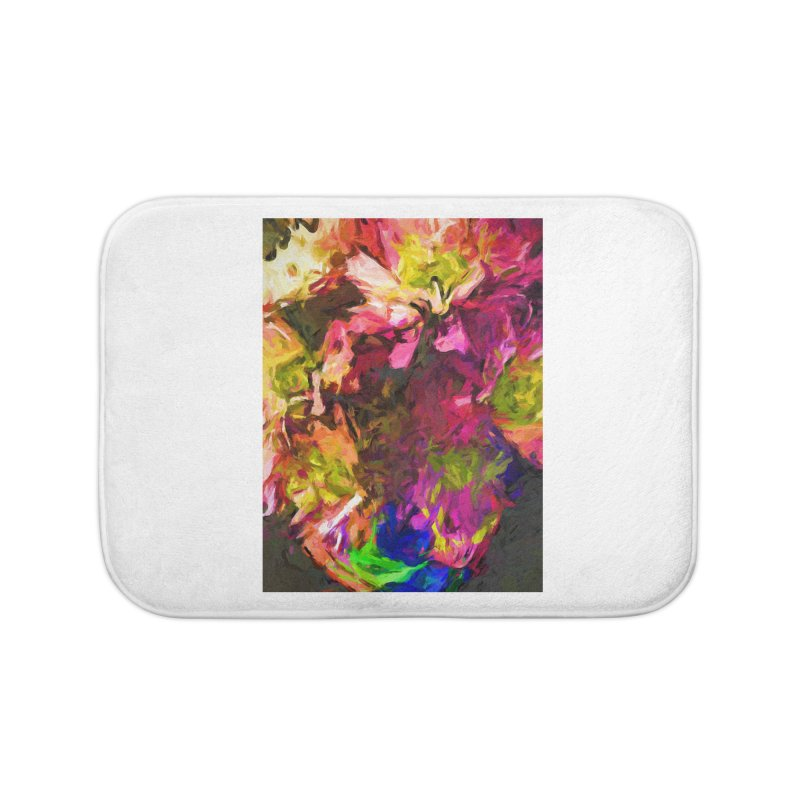 Flower Colour Love 1 Home Bath Mat by jackievano's Artist Shop