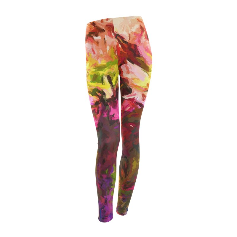 Flower Colour Love 2 Women's Leggings Bottoms by jackievano's Artist Shop