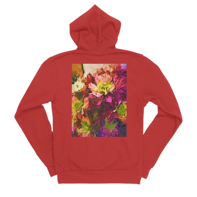 Flower Colour Love 2 Women's Zip-Up Hoody by jackievano's Artist Shop