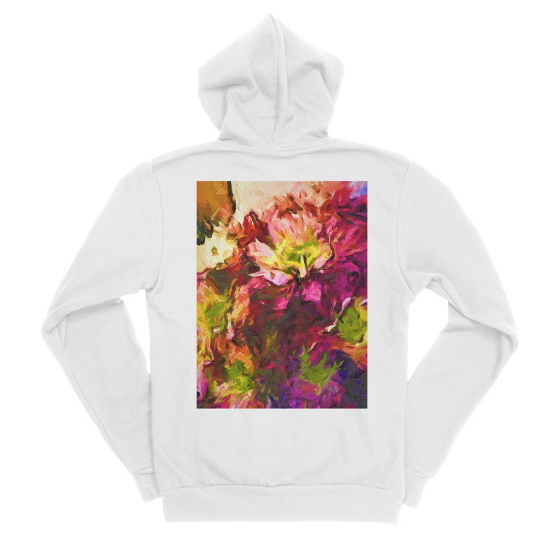 Flower Colour Love 2 Women's Sponge Fleece Zip-Up Hoody by jackievano's Artist Shop