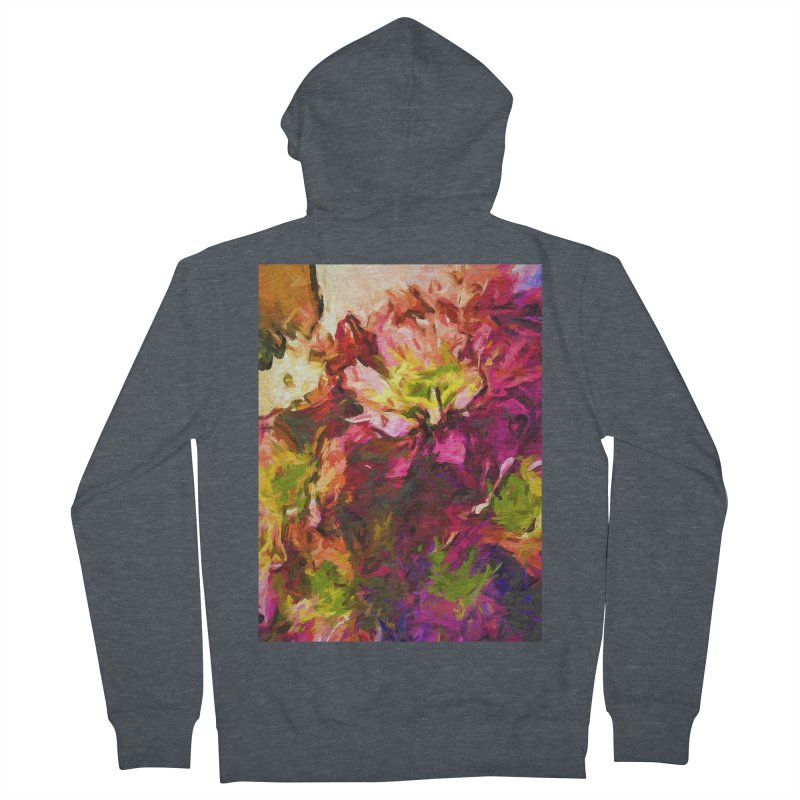 Flower Colour Love 2 Women's French Terry Zip-Up Hoody by jackievano's Artist Shop