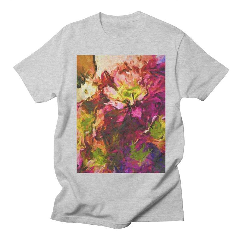 Flower Colour Love 2 Men's Regular T-Shirt by jackievano's Artist Shop