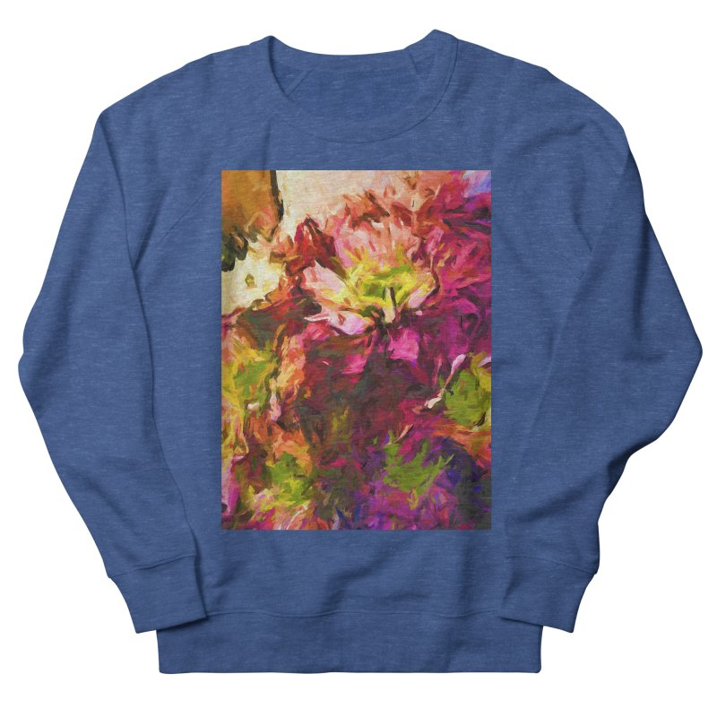 Flower Colour Love 2 Men's French Terry Sweatshirt by jackievano's Artist Shop