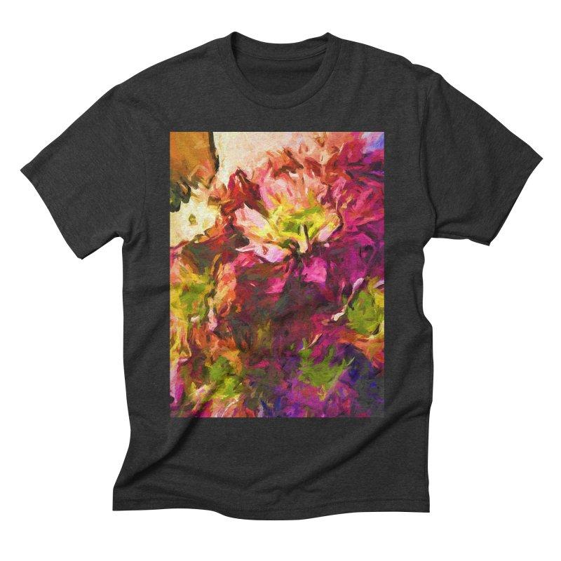 Flower Colour Love 2 Men's Triblend T-Shirt by jackievano's Artist Shop