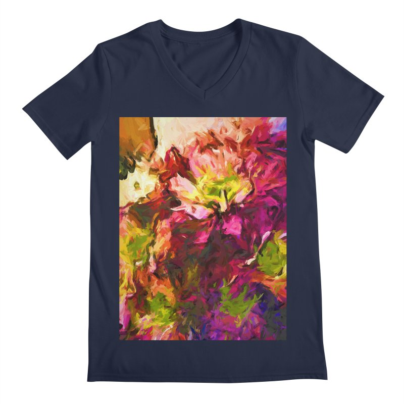 Flower Colour Love 2 Men's Regular V-Neck by jackievano's Artist Shop