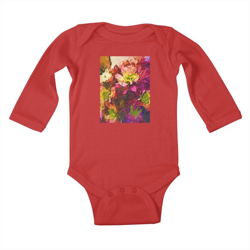 Flower Colour Love 2 Kids Baby Longsleeve Bodysuit by jackievano's Artist Shop
