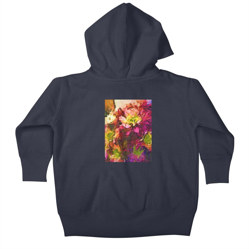 Flower Colour Love 2 Kids Baby Zip-Up Hoody by jackievano's Artist Shop