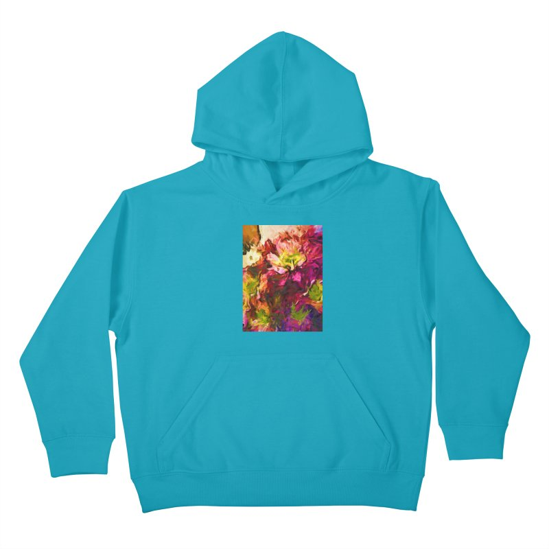 Flower Colour Love 2 Kids Pullover Hoody by jackievano's Artist Shop