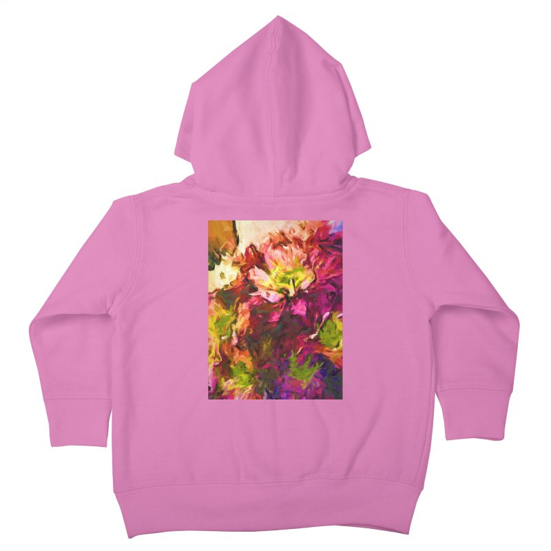 Flower Colour Love 2 Kids Toddler Zip-Up Hoody by jackievano's Artist Shop