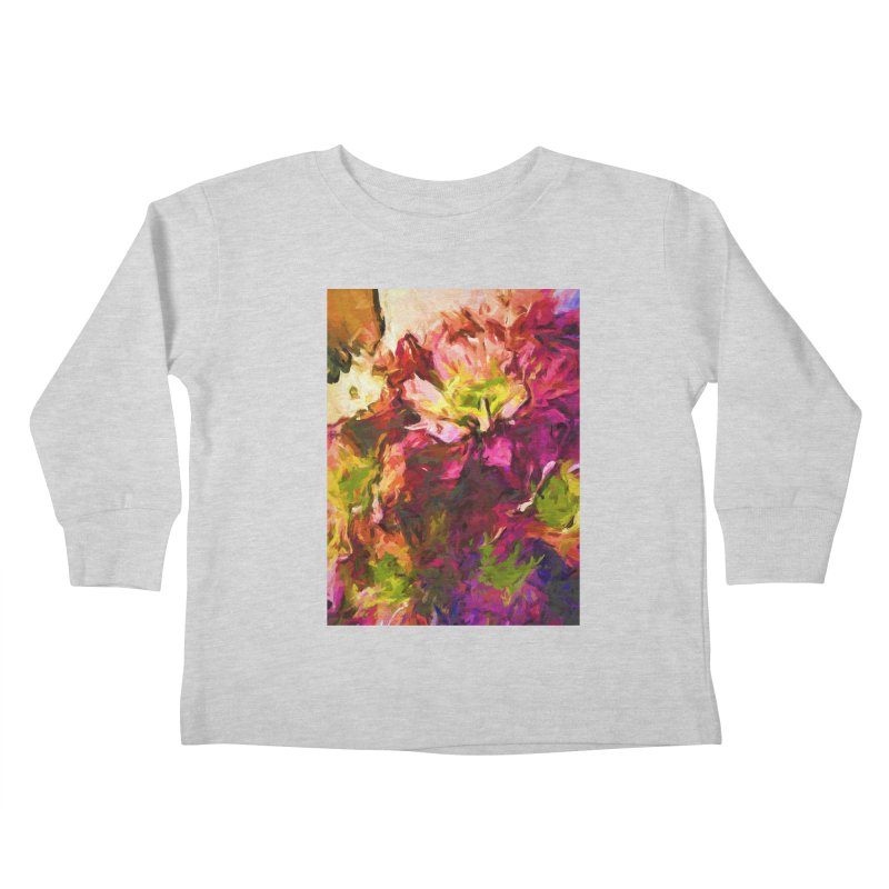 Flower Colour Love 2 Kids Toddler Longsleeve T-Shirt by jackievano's Artist Shop