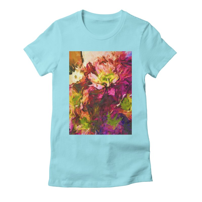 Flower Colour Love 2 Women's Fitted T-Shirt by jackievano's Artist Shop