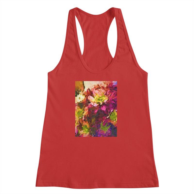 Flower Colour Love 2 Women's Racerback Tank by jackievano's Artist Shop