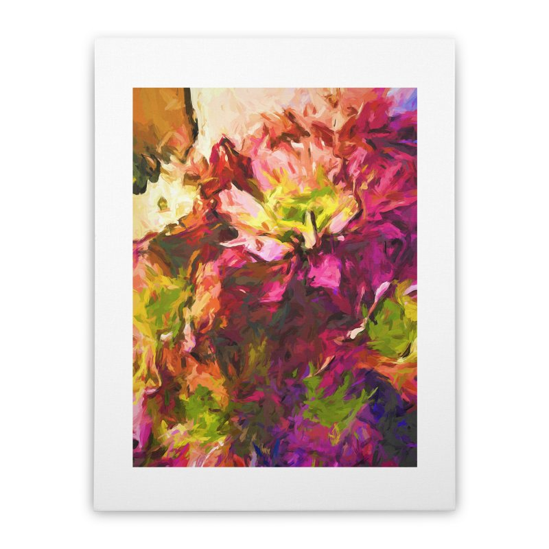 Flower Colour Love 2 Home Stretched Canvas by jackievano's Artist Shop