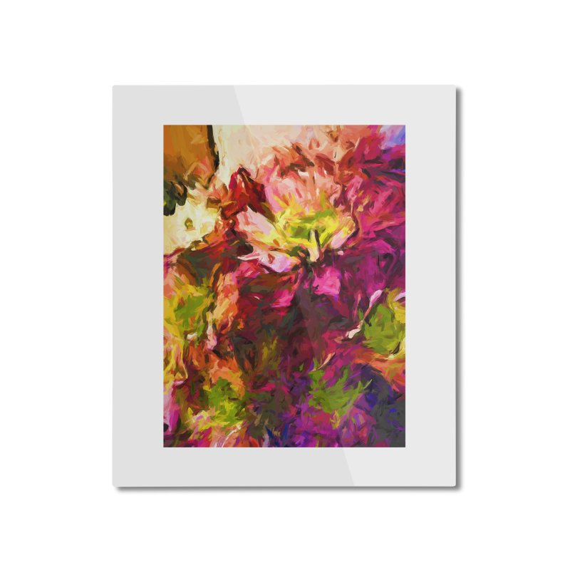Flower Colour Love 2 Home Mounted Aluminum Print by jackievano's Artist Shop