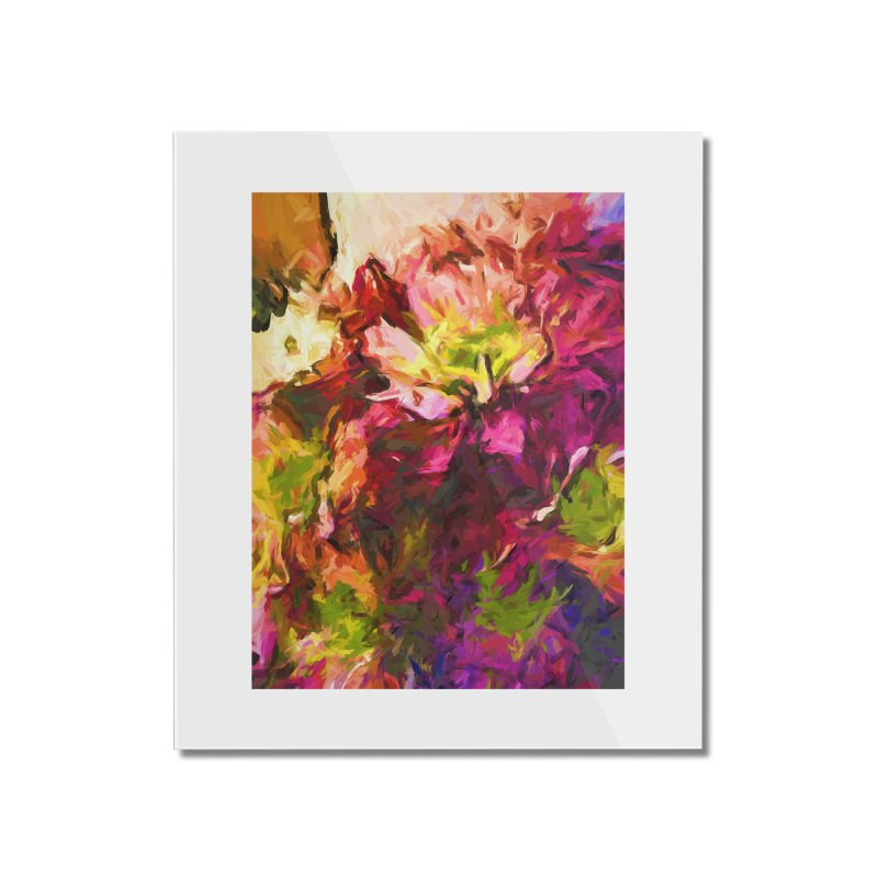 Flower Colour Love 2 Home Mounted Acrylic Print by jackievano's Artist Shop