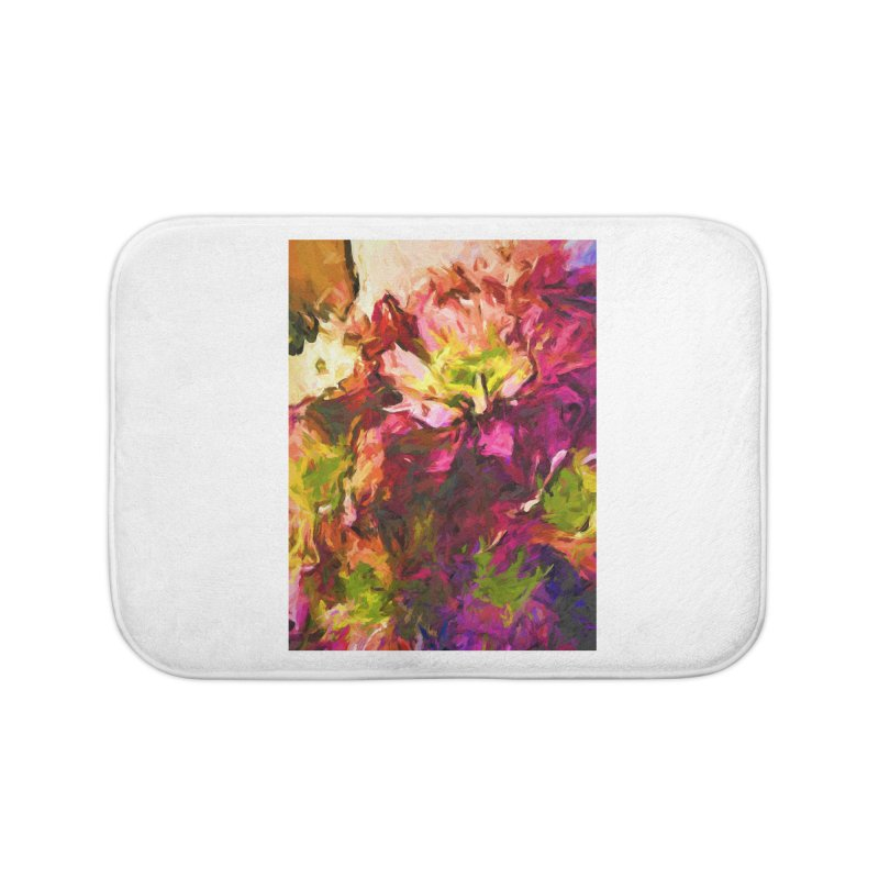 Flower Colour Love 2 Home Bath Mat by jackievano's Artist Shop