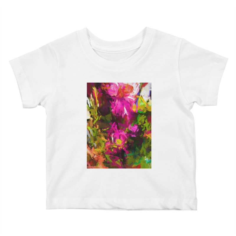 Magenta Flower Buds Climb Kids Baby T-Shirt by jackievano's Artist Shop